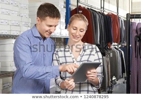 couple running on line fashion business stock photo © highwaystarz