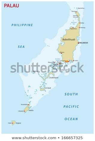 Mapa Palau diferente símbolos branco viajar Foto stock © mayboro1964