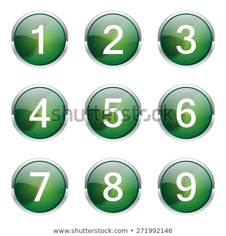 6 number circular vector green web icon button stock photo © rizwanali3d