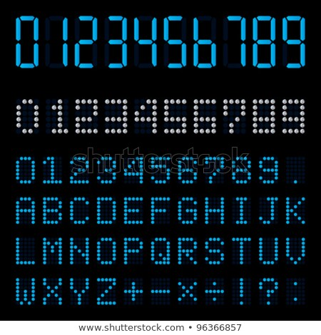 Score Board blue Vector Icon Design Stock photo © rizwanali3d