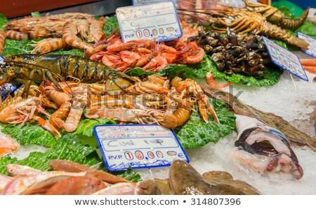 fresh fish at the boqueria market stock photo © elxeneize