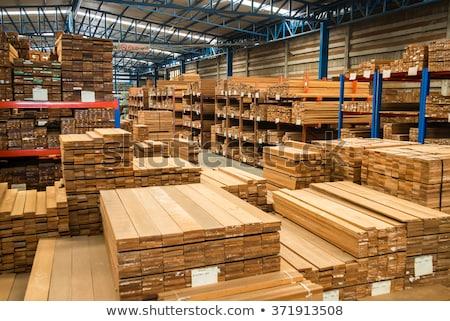 Bois miniature modèle chemin de fer bois industrie Photo stock © nelsonart