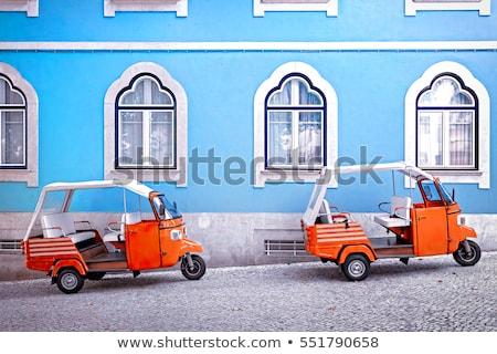 リスボン 旧市街 城 先頭 丘 夕暮れ ストックフォト © joyr