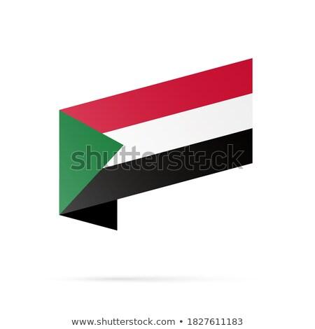 Térkép zászló gomb köztársaság Szudán vektor Stock fotó © Istanbul2009
