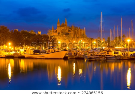 Mallorca nascer do sol catedral porta Espanha Foto stock © lunamarina