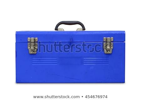 Blauw toolbox geïsoleerd witte bouw home Stockfoto © ozaiachin