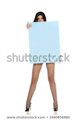 brunette in white stockings stock photo © ssuaphoto