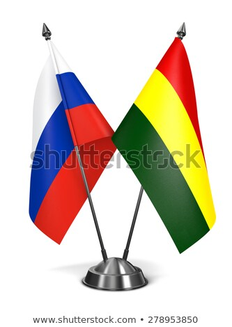 Russia and Bolivia - Miniature Flags. Stock photo © tashatuvango