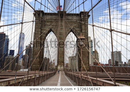 Arches of the Brooklyn bridge Stock photo © rmbarricarte