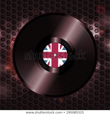британский виниловых запись металлический соты британский флаг Сток-фото © elaine
