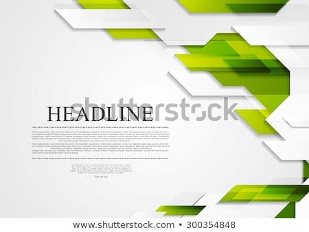 verde · cinza · tecnologia · contraste · vetor · abstrato - foto stock © saicle