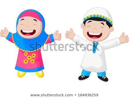 Asian moslim jongen meisje twee jonge Stockfoto © tujuh17belas