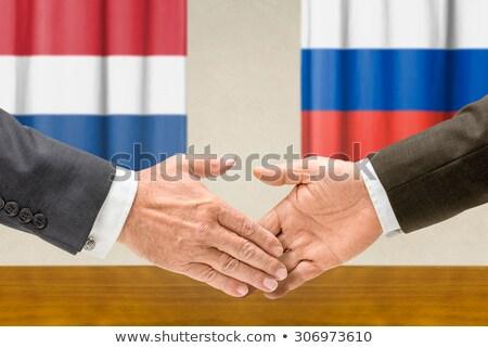 荷蘭 俄國 握手 手 手 會議 商業照片 © Zerbor