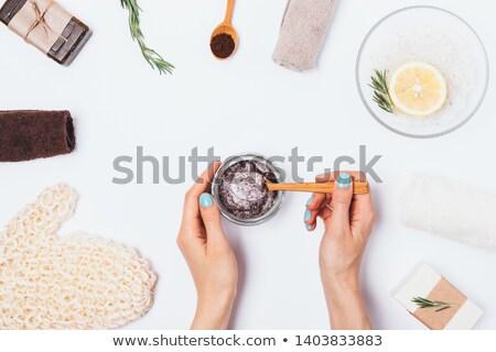 zeep · handdoeken · zomer · rozen · geneeskunde · ontspannen - stockfoto © pixpack