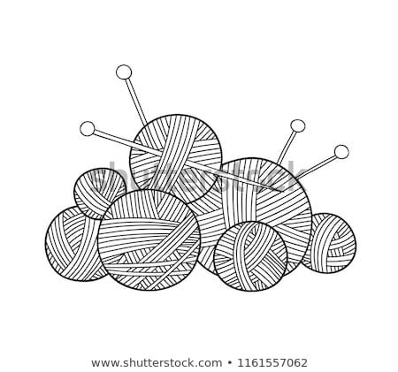 vector colorful yarn ball knit icon Stock photo © freesoulproduction