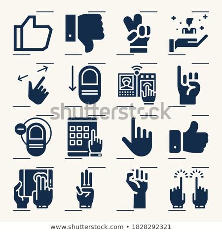 Como pessoa clique teclado botão vermelho Foto stock © tashatuvango