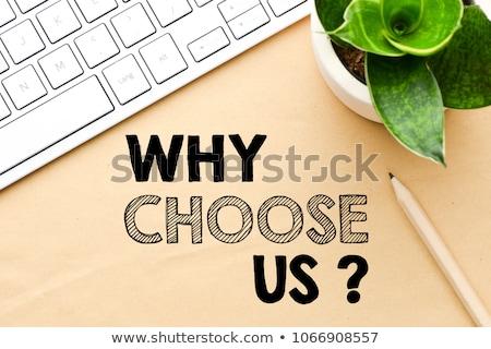 Scegliere messaggio oggi pagina business libro Foto d'archivio © fuzzbones0