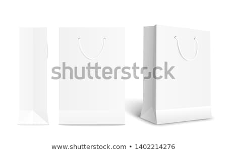Stock photo: Sale White Shopping Bags Vector