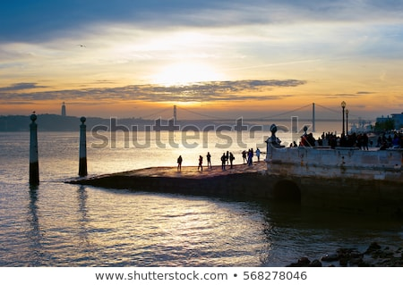 embankment of river tagus lisbon portugal stock photo © neirfy