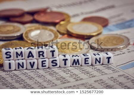 Financial Trader Means Investment Words And Finances Stock photo © stuartmiles