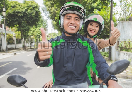 motocicleta · casco · fuego · explosión · hombre · deporte - foto stock © shawlinmohd