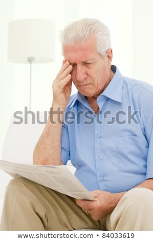 Retired senior man with a troubled expression Stock photo © ozgur