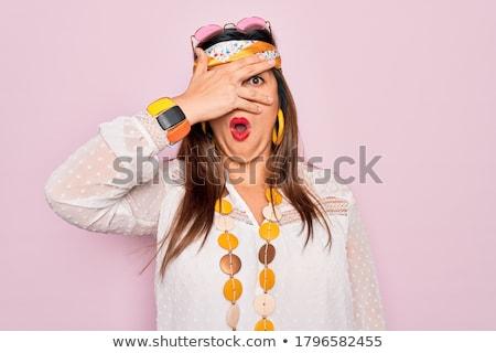 Giovani imbarazzato donna vettore design illustrazione Foto d'archivio © RAStudio