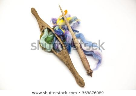 Verde lana vecchio primo piano legno strumenti Foto d'archivio © mcherevan