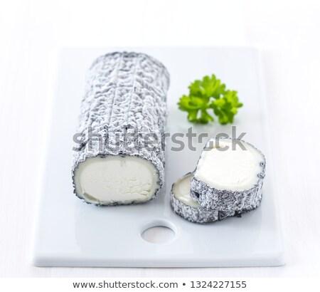 ヤギ乳チーズ 灰 白 スタジオ ヤギ 白地 ストックフォト © cynoclub