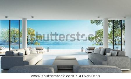 красивой Villa бассейна белый Бассейн Сток-фото © jrstock