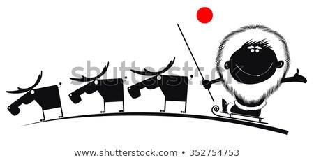 Fumetto cartoon uomo onde canoa Foto d'archivio © tiKkraf69