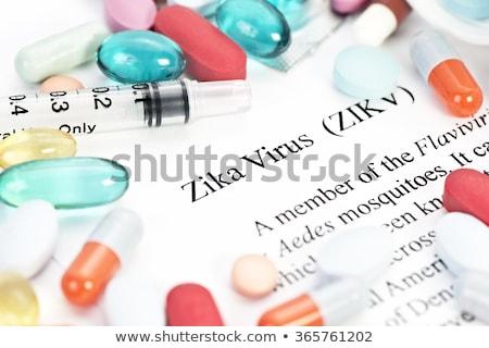 virus · controle · risico · symbool · vliegen · geïnfecteerde - stockfoto © lightsource