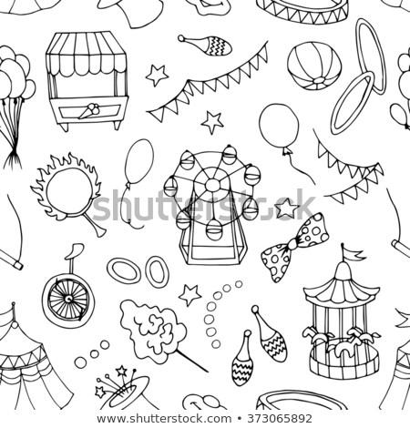 Doodle patern circus Stock photo © netkov1