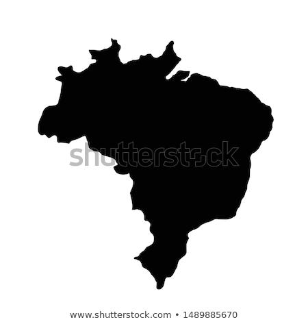 brazil country on map Stock photo © alex_grichenko