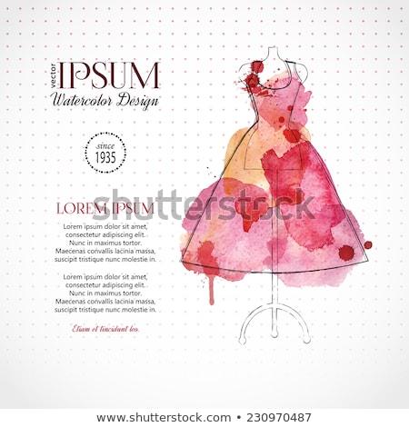 Watercolor Fashion Illustration - Mannequins Stock photo © gigi_linquiet