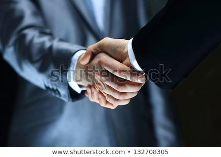 изолированный бизнеса рукопожатие стороны человека работу Сток-фото © scornejor