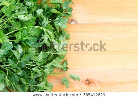 újonnan friss olasz petrezselyem asztal fa asztal Stock fotó © ozgur