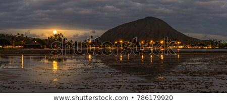 Krater Hawaii uitgestorven vulkaan noorden Stockfoto © kraskoff