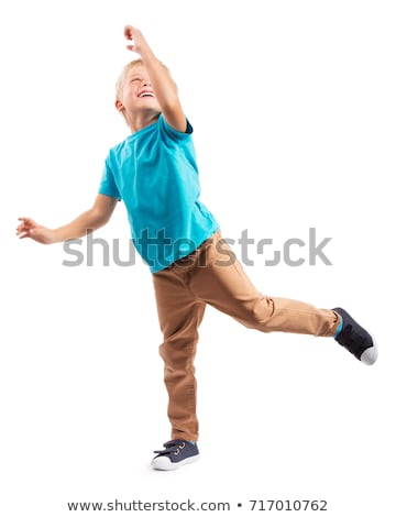 Weinig jongen geïsoleerd witte gezicht Stockfoto © zurijeta