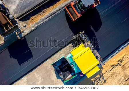 Truck on asphalt construction Stock photo © zurijeta