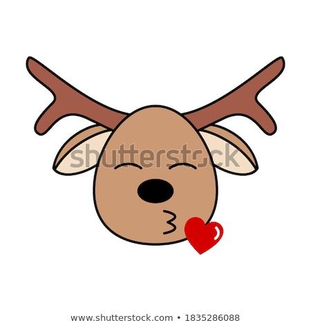 deer cartoon character stock photo © ridjam