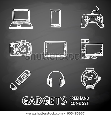 Joystick craie icône dessinés à la main vecteur Photo stock © RAStudio