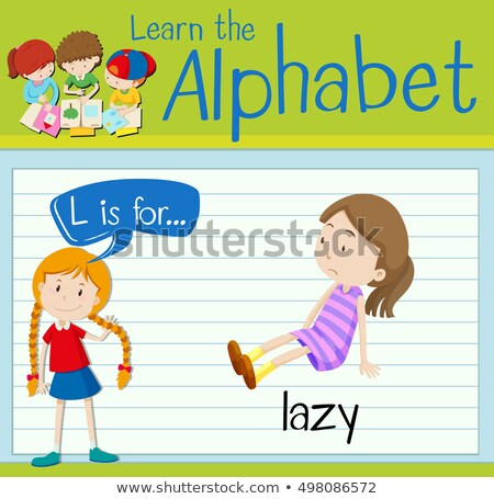 Flashcard letter L is for lazy Stock photo © bluering