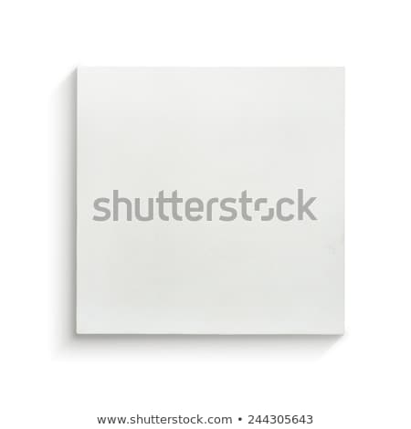 Boş beyaz tuval boyama soyut Stok fotoğraf © manera