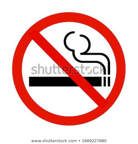 Gombok dohányozni tilos feliratok fehér háttér piros Stock fotó © bluering