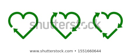 recycle and green eco symbols stock photo © soleilc