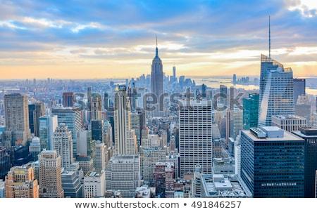 Moderna ciudad rascacielos puente resumen distrito Foto stock © Filata