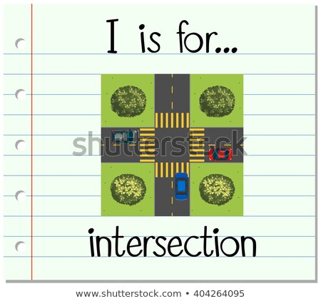 Flashcard letter I is for intersection Stock photo © bluering