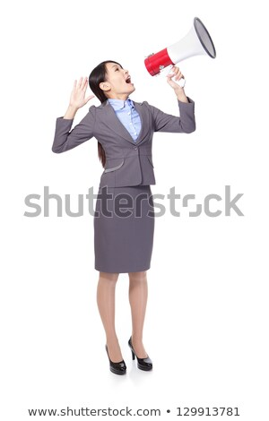 Attractive businesswoman using megaphone Stock photo © williv