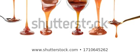Karmel sos tablicy płynnych słodkie dekoracji Zdjęcia stock © Digifoodstock